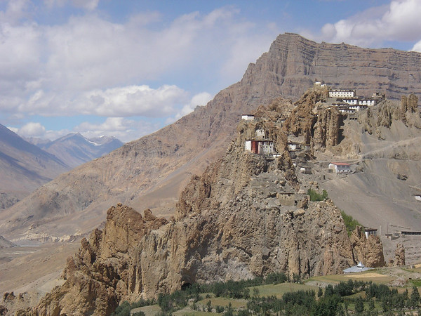 The 1000yr old Dankar Gompa perched on a cliff, ancient capital of Spiti.