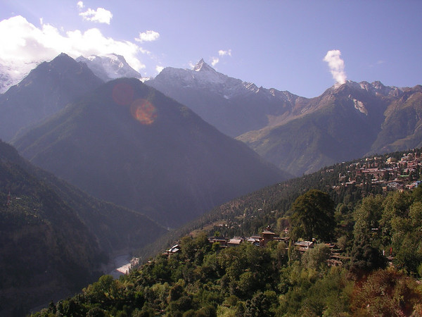 Recong Peo with Kinnaur Kailash in the background.