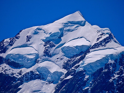 Huge slab avalanches on Mt Cook's West face.
