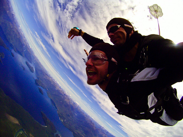 Skydiving near Te Anau.
