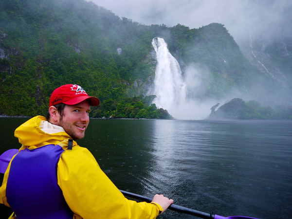Paddling on Milford Sound.